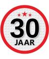 Ronde 30 jaar sticker
