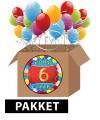 6 jaar feestartikelen pakket