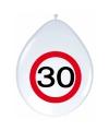 Ballonnen stopbord 30 jaar