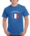 Heren t-shirt met de Franse vlag