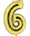 Gouden ballon cijfer 6