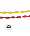 4x crepe slingers geel-rood
