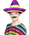 Multi colour sombrero voor kinderen