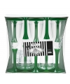 Groene champagne glazen 10 stuks