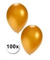 100 gouden carnavals ballonnen