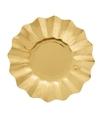 Gouden diepe wegwerp bordjes 21 cm