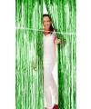 Groen foliegordijn