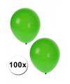 Zak groene ballonnen 100 stuks