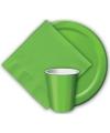 Kartonnen groene borden 23 cm