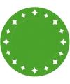 Groene wegwerp placemats 33 cm