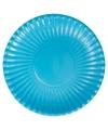 Turquoise wegwerp borden 29 cm