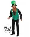 Grote maat Groen St Patricks Day gnoom vest voor heren