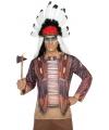 Toppers kleding Indianen shirt verkleedoutfit