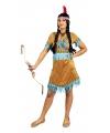 Toppers kleding beige korte indianen jurkje voor dames