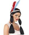 Indianenpruik voor dames met staart