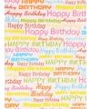 Verjaardagscadeau inpakpapier Happy Birthday 70 x 200 cm