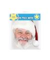 Papieren masker Kerstman