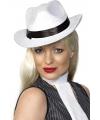 Luxe witte al capone hoed