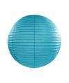 Turquoise blauwe lampion rond 25 cm