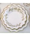 Bruiloft bordjes goud 27 cm