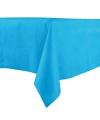 Luxe tafelkleed middenblauw 140 x 240