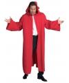 Rode luxe mantel voor volwassenen