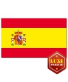 Spaanse vlag met wapen luxe kwaliteit