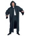 Zwarte luxe mantel voor volwassenen