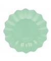 Mint diepe wegwerp bordjes 27 cm