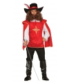 Musketiers outfit heren rood