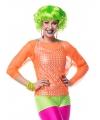Neon groene short voor dames
