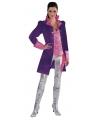 Paarse markiezin jas voor dames