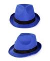 Blauwe maffia feesthoedjes