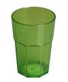 Plastic glas groen 12 cm