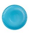 Turquoise wegwerp bordjes 23 cm