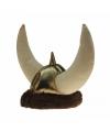 Pluche viking hoed met hoorns