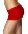 Rood broekje met ruche voor dames