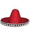 Rode Mexicaanse sombrero 40 cm
