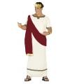 Romeinse keizer kostuum rood en wit