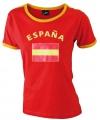 Dames t-shirt met de Spaanse vlag
