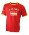 Heren t-shirt met de Spaanse vlag