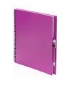 Tekeningenboek roze met pen