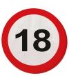 Verkeersbord servetten 18 jaar