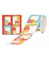 Sint stickers in rood doosje 50 stuks