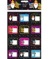 Sinterklaas naam stickers 24 stuks