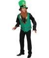 Groene St Patricks Day kleding gnoom vest heren