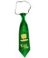 St Patricks Day Kiss Me glitter stropdas voor volwassenen