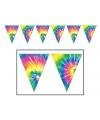 Tie Dyed hippie vlaggenlijnen 3 meter