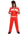 Rood/wit verkleed trainingspak voor heren