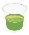 Groene wegwerp bekertjes 10 stuks